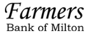 THE FARMERS BANK OF MILTON