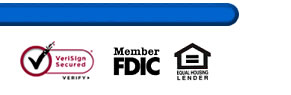 FDIC Insured / Secure Bank / Equal Housing Lender
